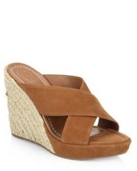 Tory Burch Bailey Leather Wedge Mules