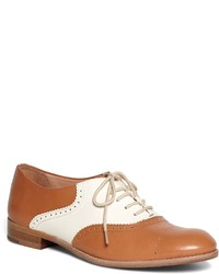 Brooks Brothers Leather Lace Up Oxford Flats