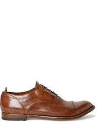 Officine Creative Anatomia Polished Leather Oxford Shoes