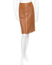 Akris Leather Skirt