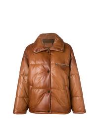 Prada Logo Embossed Puffer Jacket