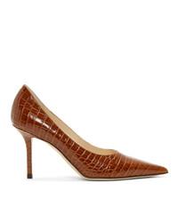 Jimmy Choo Brown Croc Love 85 Heels