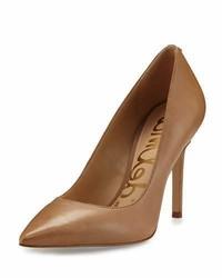 Sam Edelman Hazel Pointed Toe Leather Pump Golden Caramel