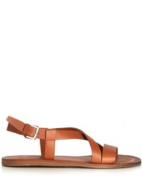 Salvatore Ferragamo Nostro Crossover Leather Sandals