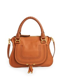 Tobacco Leather Satchel Bag