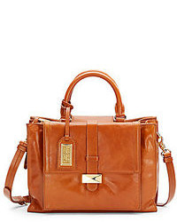 Badgley mischka lena leather satchel medium 108623