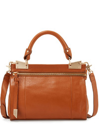 Foley + Corinna Dione Leather Messenger Bag Honey Brown