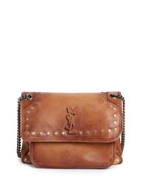 Saint Laurent Medium Kate Studded Leather Crossbody Bag