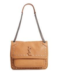Saint Laurent Medium Niki Star Studded Leather Shoulder Bag