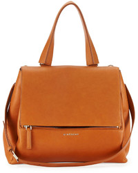 Pandora pure medium leather satchel bag hazel medium 189124