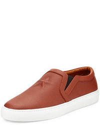 Tobacco Leather Sneakers