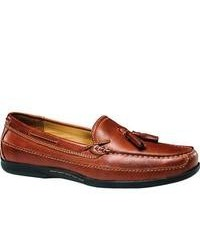 Dockers Schell Tan Burnished Full Grain Leather Tassel Loafers