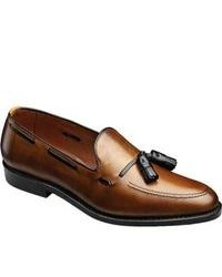 Grayson Bourbon Calfblack Leather Tassel Loafers