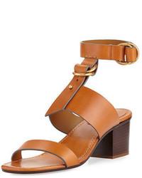 Chloé Chloe Kingsley Leather T Strap Sandal