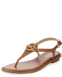af7742621 ... MICHAEL Michael Kors Michl Michl Kors Lee Leather Flat Thong Sandal  Luggage ...