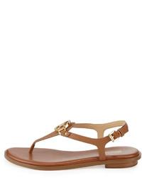 ddf8383c6 ... MICHAEL Michael Kors Michl Michl Kors Lee Leather Flat Thong Sandal  Luggage