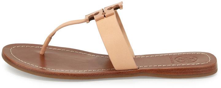 64890a006456 Tory Burch Moore 2 Leather Thong Sandal Light Oak