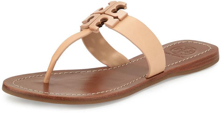 804101c9df4c6e ... greece tory burch moore 2 leather thong sandal light oak 302e0 581a0