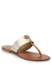 Joie Nice Metallic Leather Thong Sandals