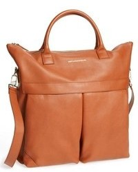 Tobacco Leather Tote Bag