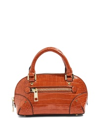 Topshop Goa Mini Embossed Bowler Bag
