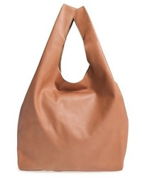 Leather tote brown medium 518412