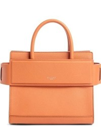 Givenchy Mini Horizon Grained Calfskin Leather Tote Blue
