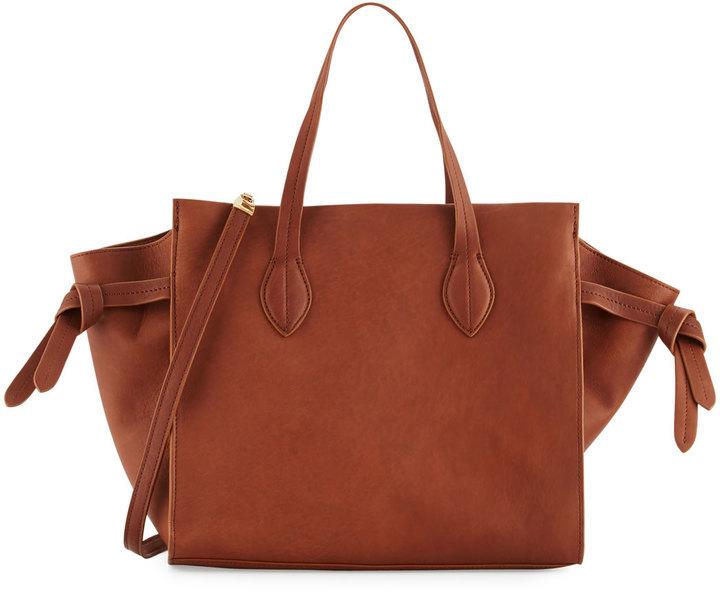 2b918d454ff7 ... Cynthia Rowley Miranda Leather Tote Bag Chestnut ...