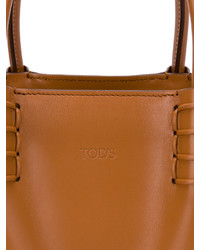 Tod's Small Logo Embossed Tote