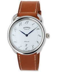 Hermes Acreau Tgm Watch With Barenia Leather Strap