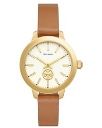 Tory Burch Collins Leather Strap Watch 38mm