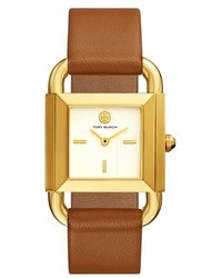 Tory Burch Phipps Leather Strap Watch 29mm X 41mm
