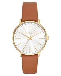Michael Kors Pyper Leather Watch