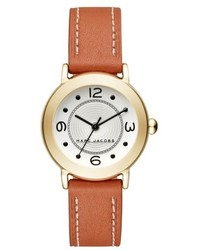 Marc Jacobs Round Leather Strap Watch 28mm