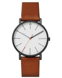 Skagen Signatur Leather Strap Watch 40mm