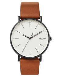 Skagen Signatur Leather Watch