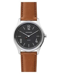 Jack Mason Slim Leather Strap Watch
