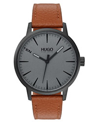 BOSS Stand Leather Watch