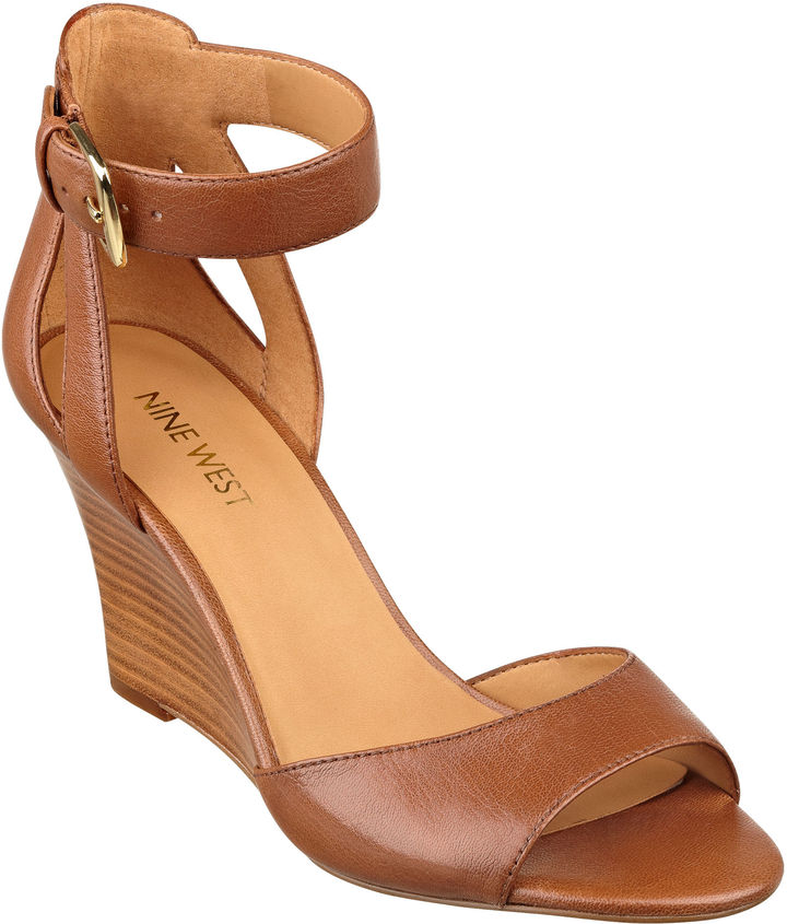 bae86b0154 Nine West Floyd Ankle Strap Wedge Sandals, $89 | Nine West ...