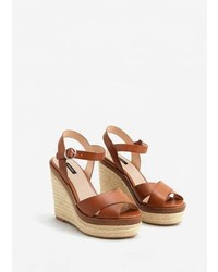 Mango Wedge Criss Cross Sandals