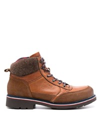 Tommy Hilfiger Chunky Lace Up Leather Boots