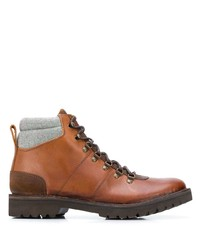 Eleventy Lace Up Leather Boots