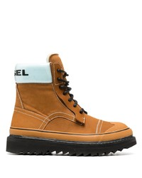 Diesel Logo Hiking Boots