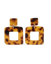 Valet Lois Tortoiseshell Resin Earrings