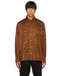 Études Orange Leopard Illusion Shirt