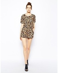 Oh My Love Leopard Print Shorts Leopard