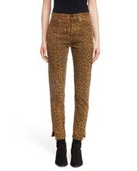 Saint Laurent Leopard Ankle Jeans