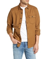 Jeremiah Keefe Regular Fit Brushed Twill Button Up Sport Shirt