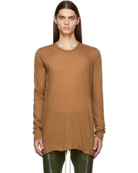 Rick Owens Tan Basic Long Sleeve T Shirt