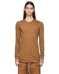 Rick Owens Tan Double Long Sleeve T Shirt